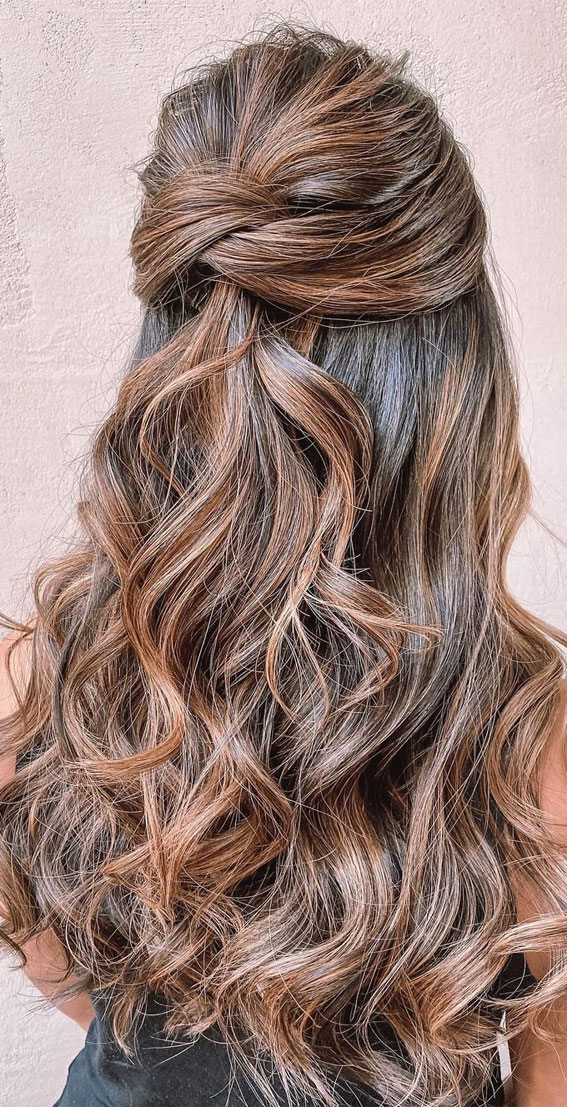 Trendy Half Up Half Down Hairstyles : Ethereal half up & down style
