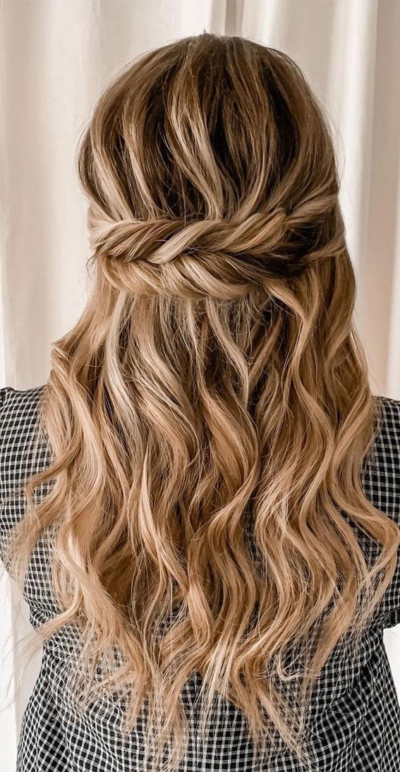 Trendy Half Up Half Down Hairstyles : Dutch Fishtail Braid trick