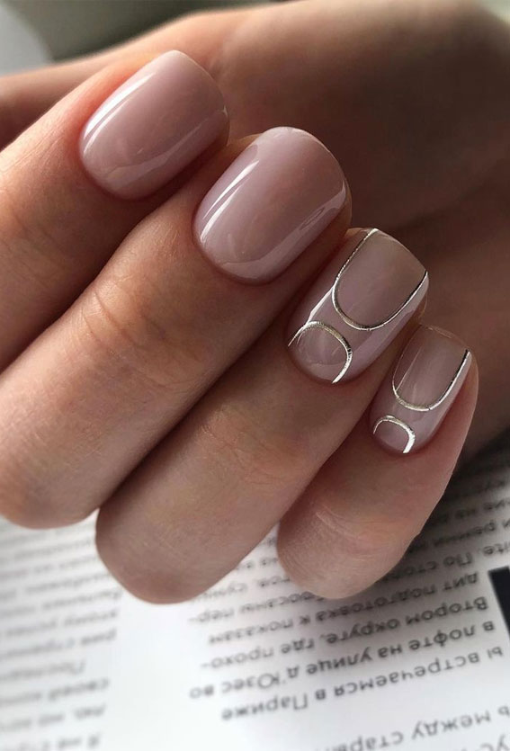 Summer Nail Designs You'll Probably Want To Wear : light pink nails with minimalist design