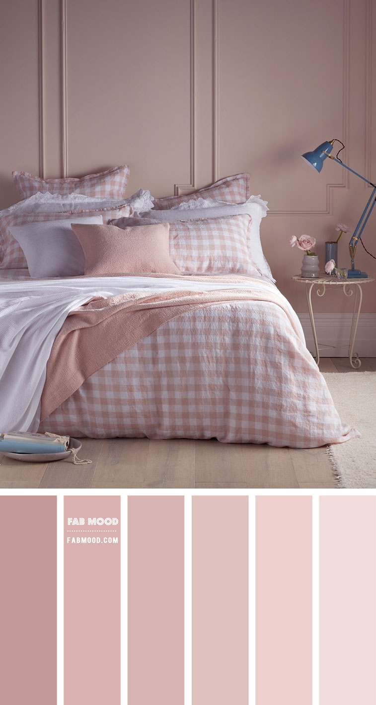 Gingham and Rose Pink Bedroom