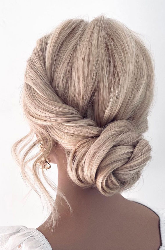70 Latest Updo Hairstyles for Your Trendy Looks in 2021 : cute twisted low bun