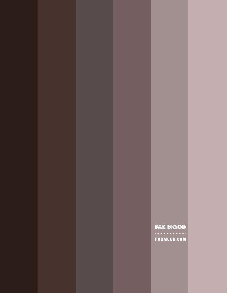 ombre grey mauve, muted grey mauve color scheme, muted grey mauve gradient color palette