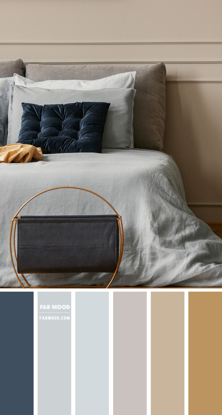 Blue and Tan Colour Scheme For Bedroom