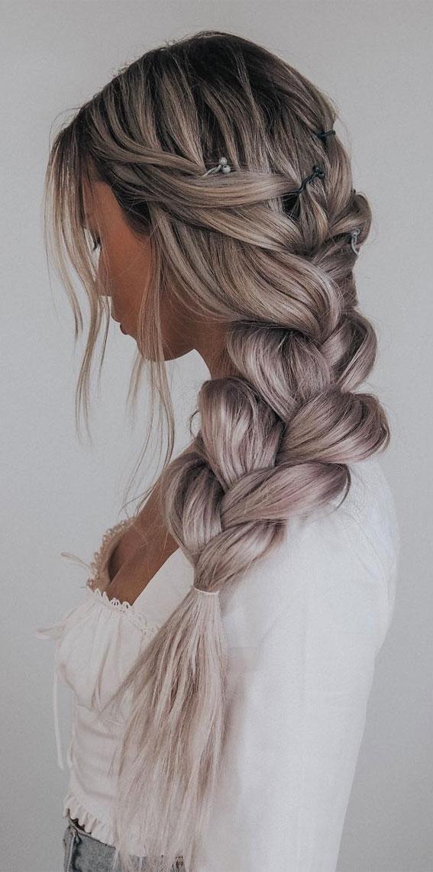 Cute braided hairstyles to rock this season : Simple and Cute Chunky Braid
