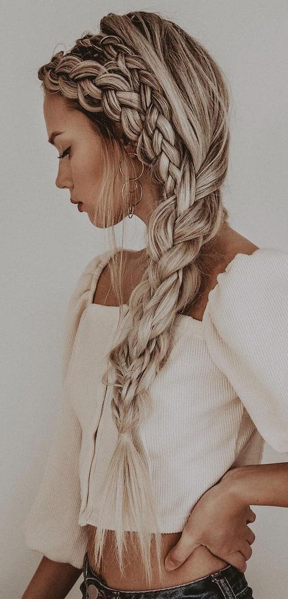 Cute braided hairstyles to rock this season : Cute Double braid