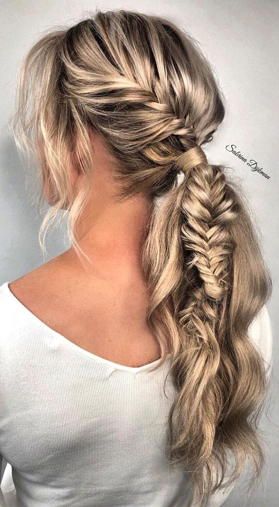 summer braids, boho braided ponytail, braided hairstyles, braided hairstyles for short hair, braided hairstyles, braids hairstyles for school girls, braids hairstyles 2021, braid hairstyles, french braid hairstyles, fishtail braided hairstyle, braided half up, #braidedhairstyle #braids