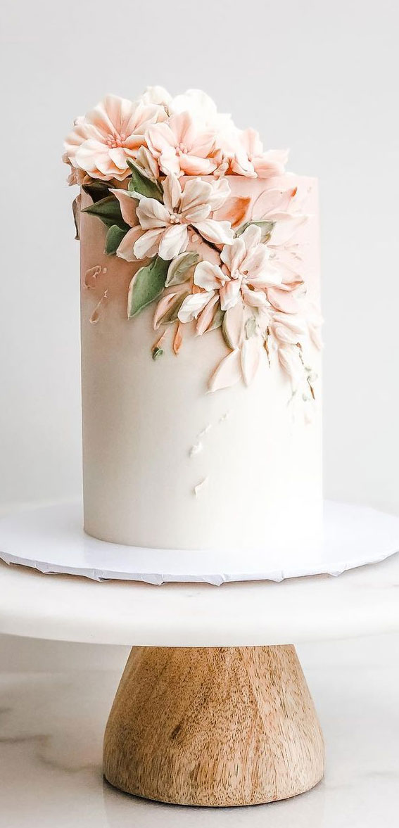 Pretty Cake Decorating Designs We've Bookmarked : Cherry blossoms + strawberry shortcake