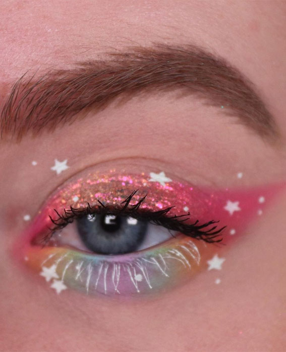 Latest Eye Makeup Trends You Should Try In 2021 : Colourful, Shimmery & Stars