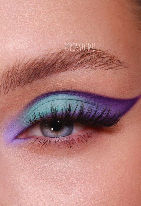 Latest Eye Makeup Trends You Should Try In 2021 : Pretty Cool Tone Colour Combo