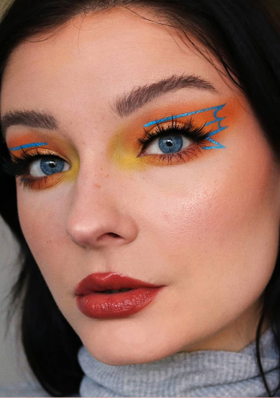 Latest Eye Makeup Trends You Should Try In 2021 : Fire fairy