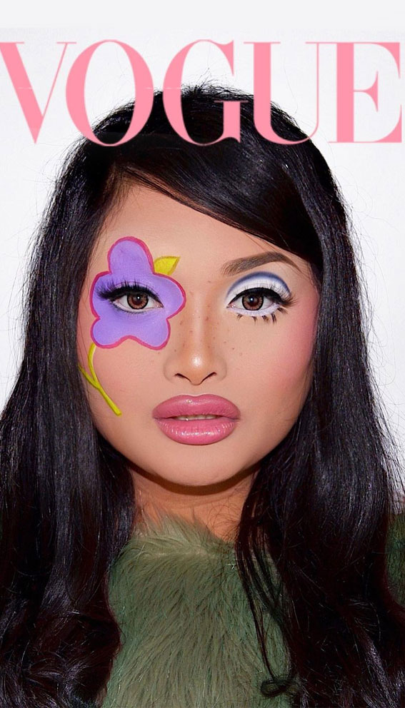 Creative Eye Makeup Art Ideas You Should Try : Iconic legend from the 60s, Twiggy
