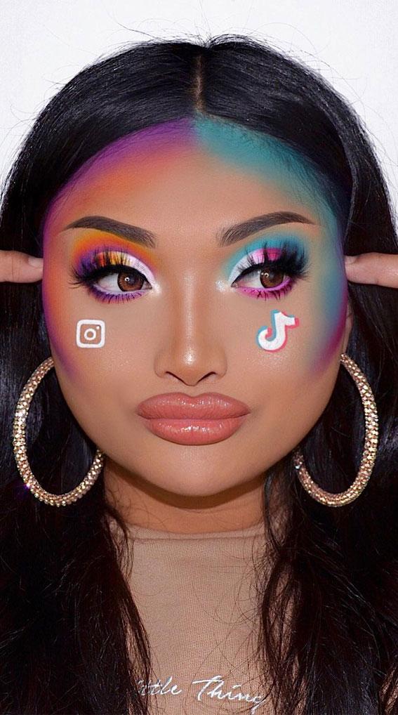 Creative Eye Makeup Art Ideas You Should Try : The Battle of Social Medias