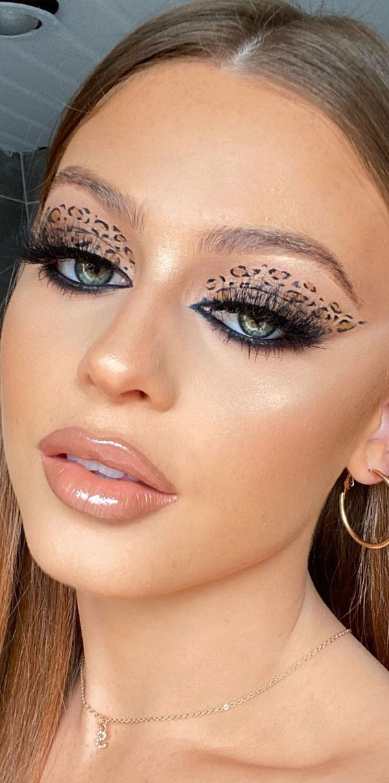 Creative Eye Makeup Art Ideas You Should Try : Cheetah print eye makeup art