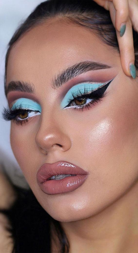 Creative Eye Makeup Art Ideas You Should Try : Blue makeup inspired by princess Jasmine