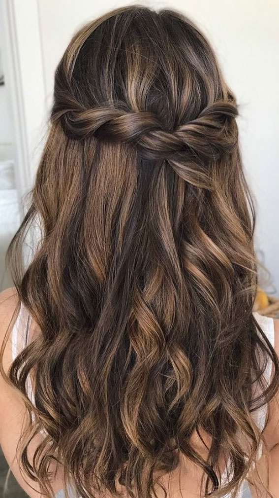 Trendy Half Up Half Down Hairstyles : textured, twisted half up style