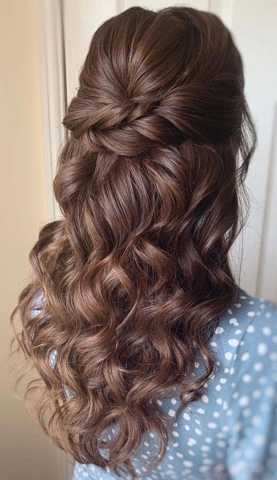 Trendy Half Up Half Down Hairstyles : Dutch Braid Volume Hair