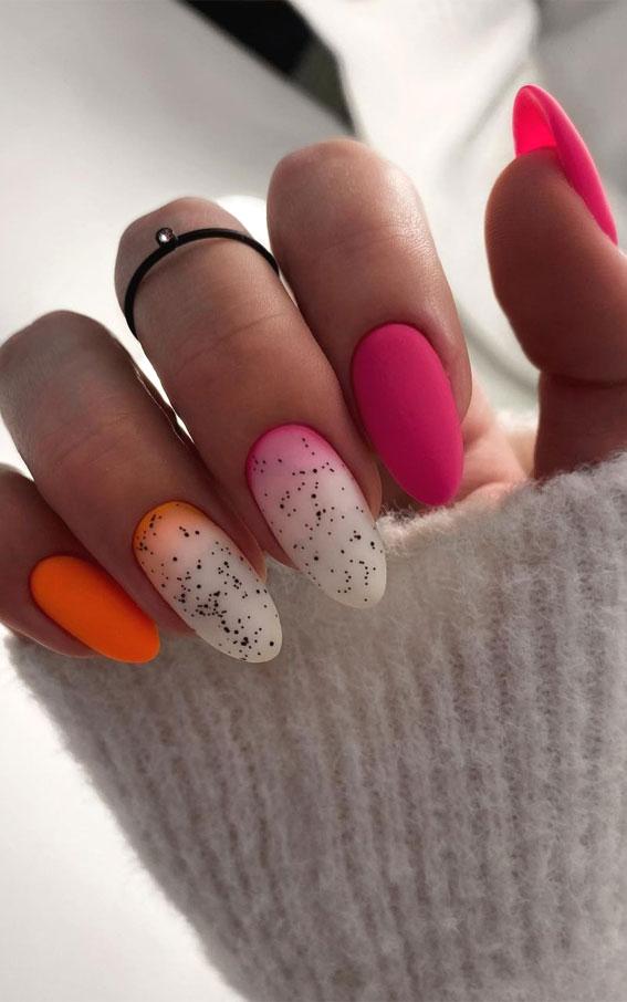 summer nail art designs, colorful nail colors, bright nail colors, summer nail art designs 2021, ombre nail colors, nail art designs 2021 #nailart #nailart2021