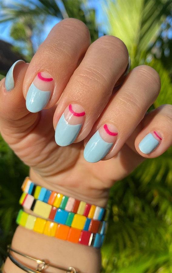 baby blue summer nail colors 2021, summer nails ideas, summer nails 2021, summer nail art, summer nail designs 2021, summer nails acrylic, summer nails colors, summer nail ideas 2021, bright summer nails 2021