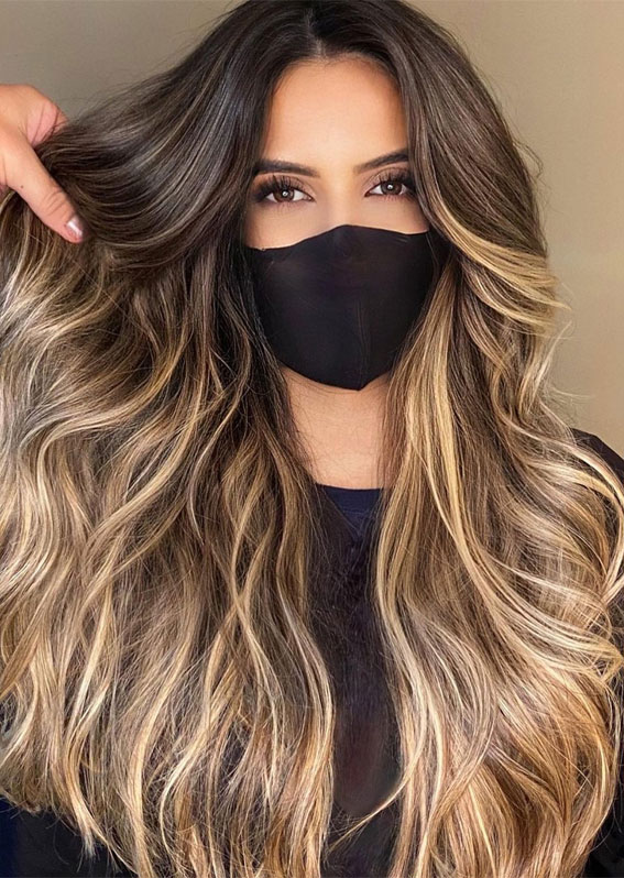 49 Gorgeous Blonde Highlights Ideas You Absolutely Have to Try : Brown and Blonde Highlights on Dark Hair