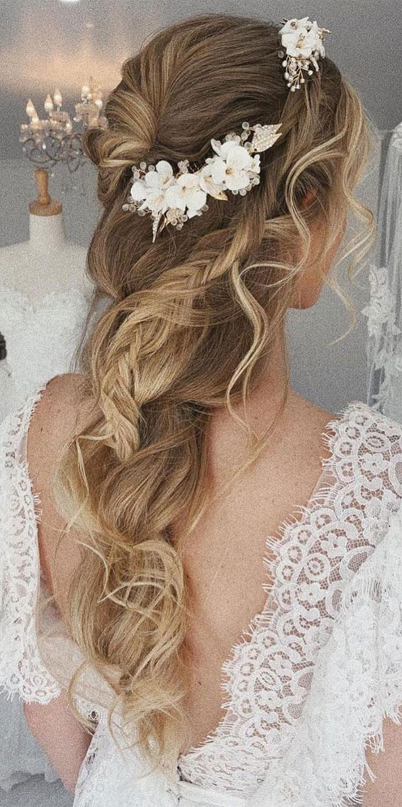 Half Up Half Down Hairstyles For Any Occasion : Romantic half ups with different braids