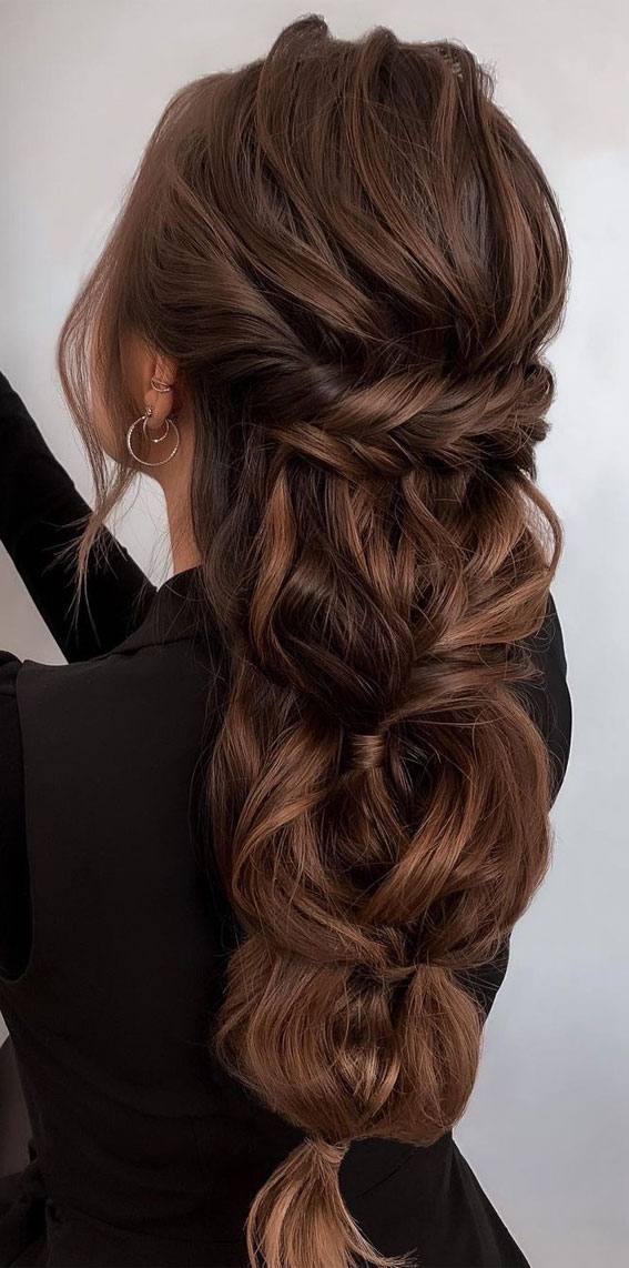 Half Up Half Down Hairstyles For Any Occasion : Boho Greek Braid
