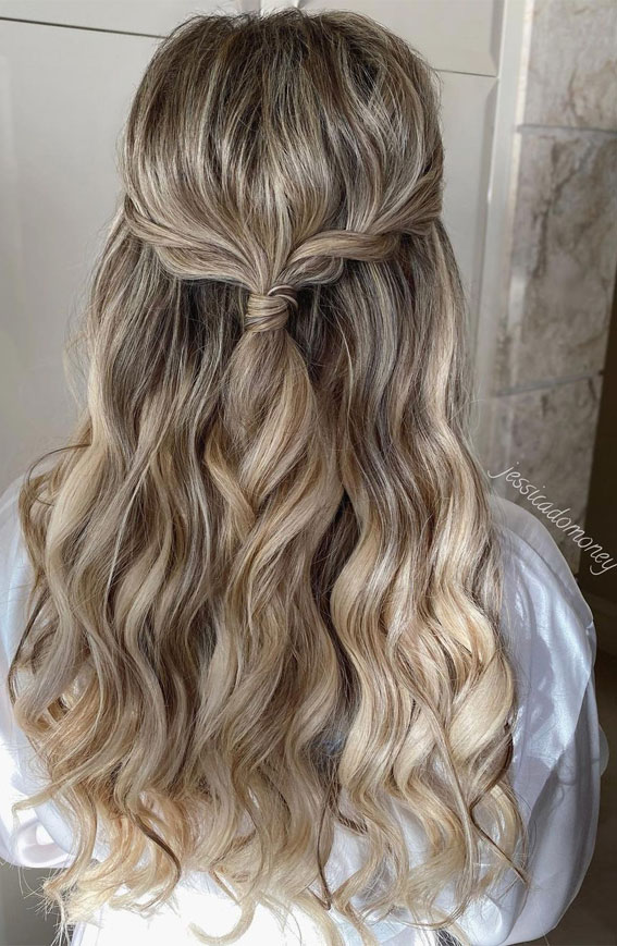 Half Up Half Down Hairstyles For Any Occasion : Simple, Twisted Half Up & Curl Locks