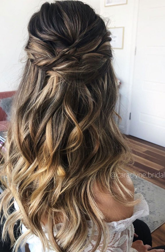 Half Up Half Down Hairstyles For Any Occasion : Volume Textured half ups