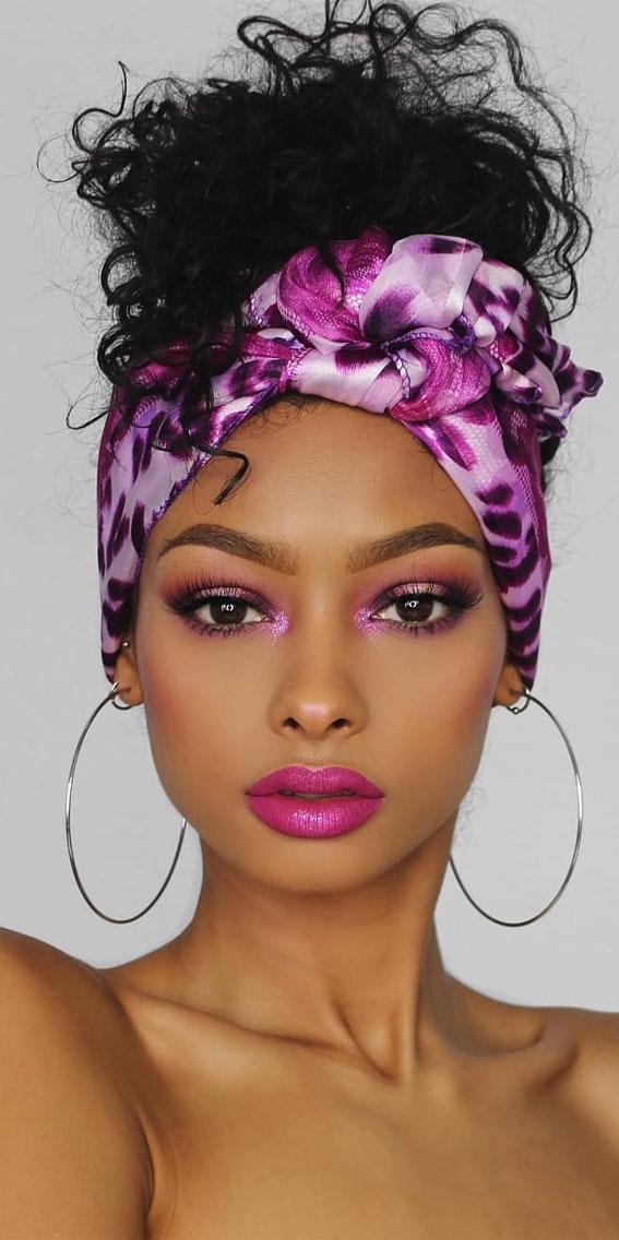 39 Trendy ways to wear a head scarf : Berry Head Scarf