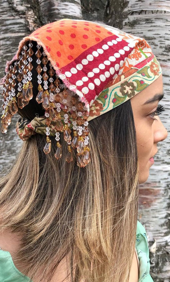 39 Trendy ways to wear a head scarf : For all the Gypsy souls out there