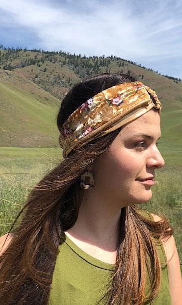 39 Trendy ways to wear a head scarf : Boho Head Band Head Scarf