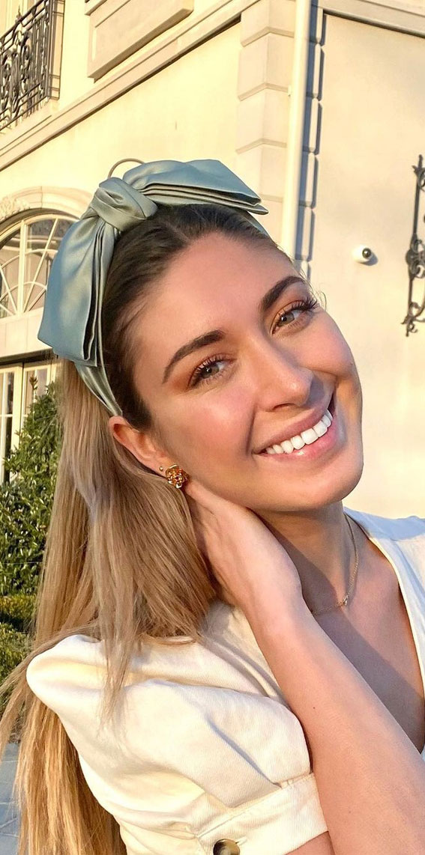 39 Trendy ways to wear a head scarf : Double Bow Head Band Head Scarf