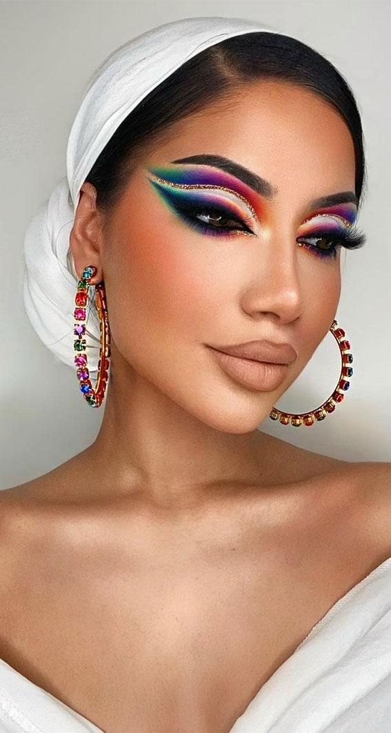 Creative Eye Makeup Art Ideas You Should Try : The Pride Eye Makeup Look