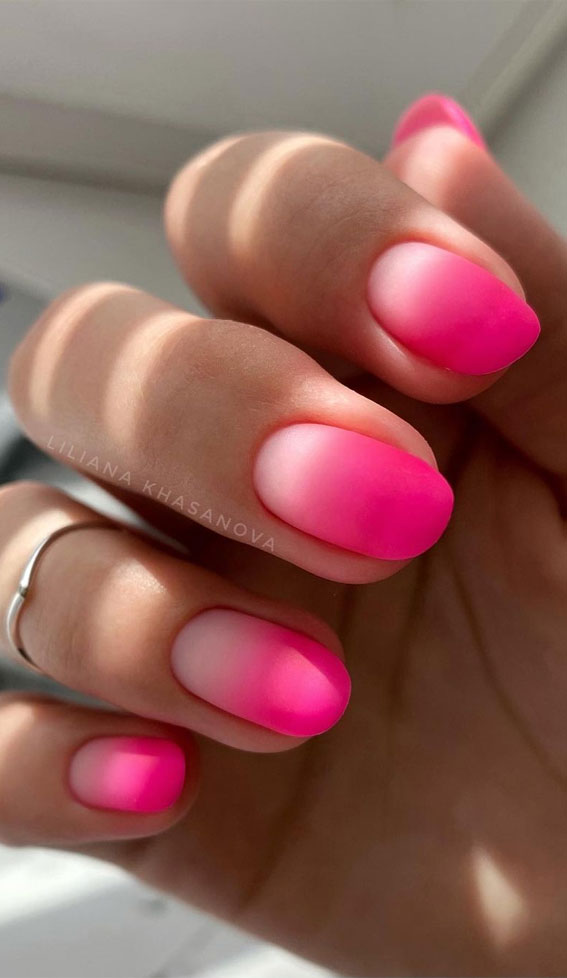ombre bright pink nails, ombre pink nails, bright pink ombre nails, ombre nail art designs, french ombre nails, bright pink ombre nails, ombre nail art designs 2021