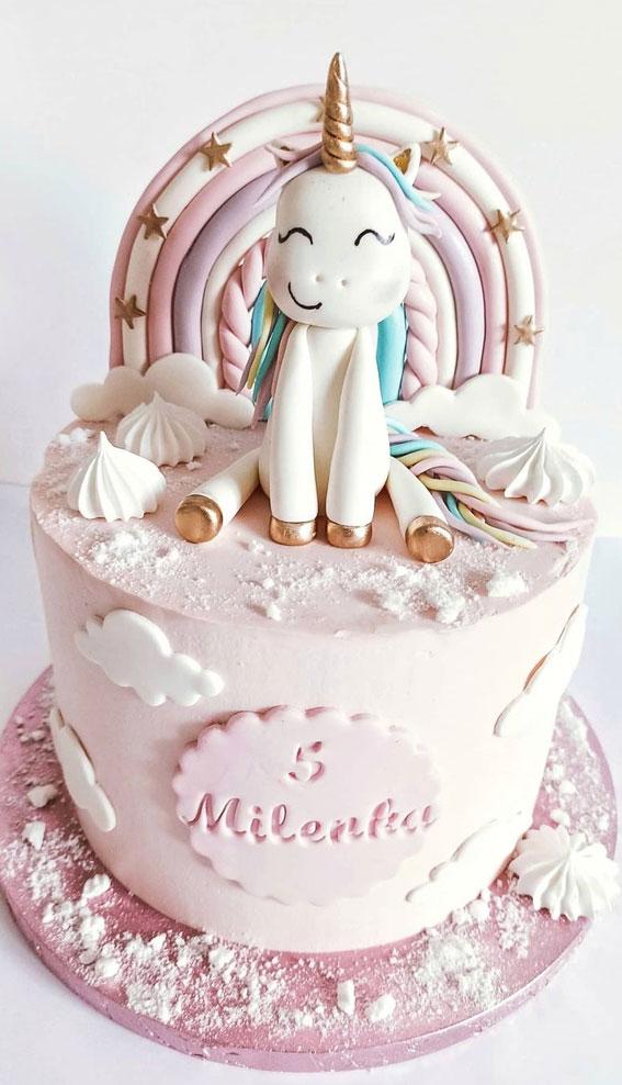 Cute Unicorn Cake Designs : Unicorn Cake with Star on Rainbow