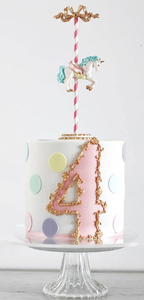 Cute Unicorn Cake Designs : Pastel Spotty & Unicorn Cake