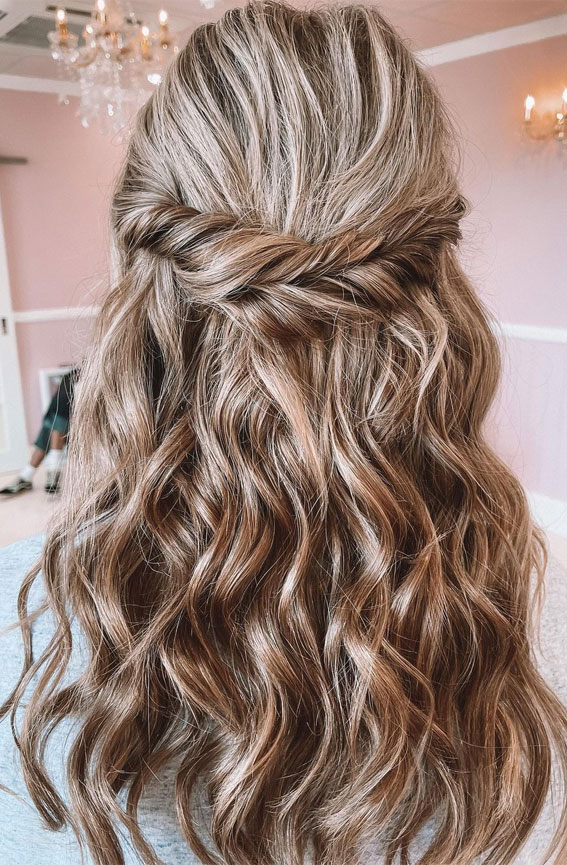 Half Up Half Down Hairstyles For Any Occasion : Pretty, Twist, Braid Boho Half ups