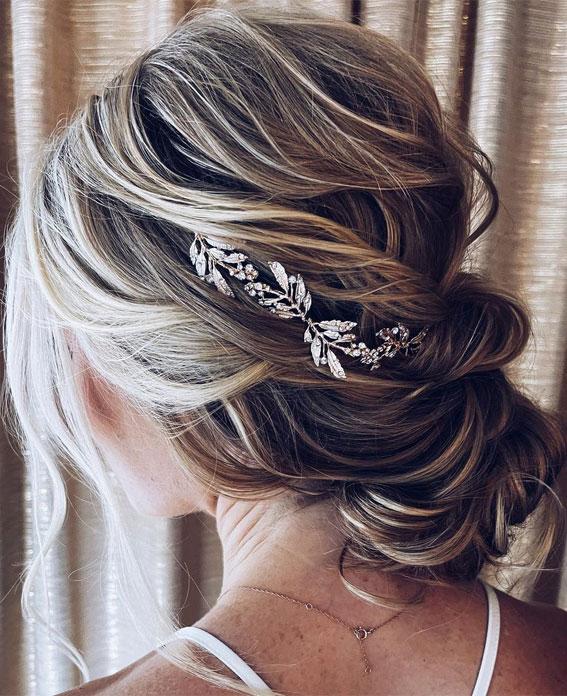32 Classy, Pretty & Modern Messy Hair Looks : Pretty Textured Updo For Fine Hair
