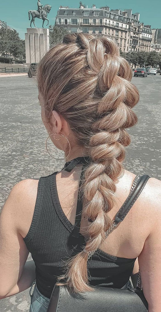 24+ Braid Hairstyles That Really Jazz Up Your Hair : Chunky braid
