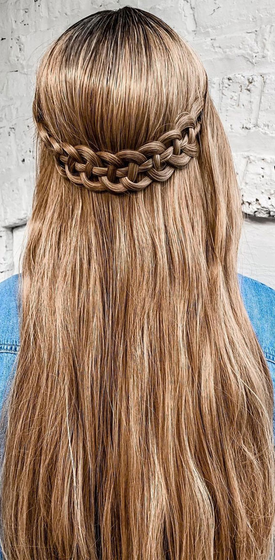 infinity pony hairstyle, braid hairstyle, infinity braid hairstyle