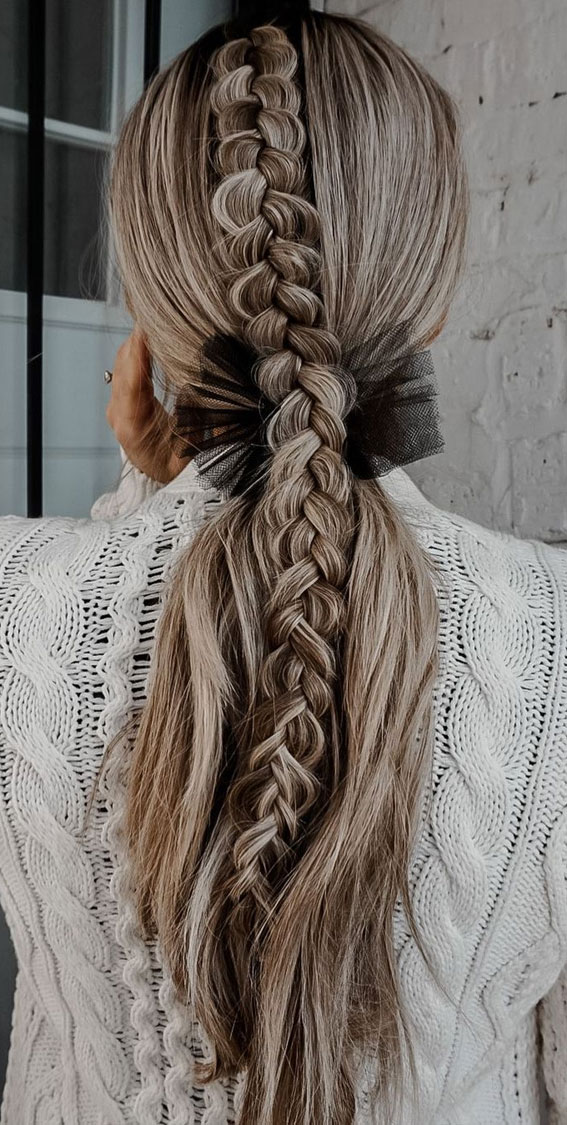 24+ Braid Hairstyles That Really Jazz Up Your Hair : Cute braid to pony