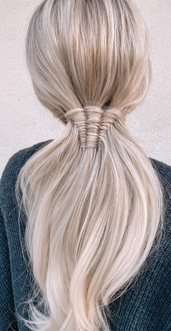 24+ Braid Hairstyles That Really Jazz Up Your Hair : Cute three strand infinity pony