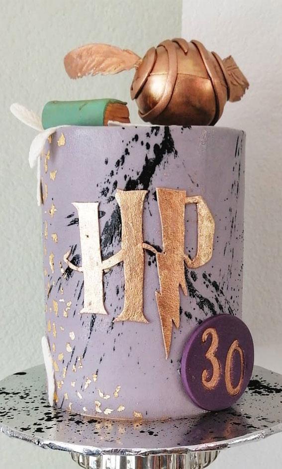 30+ Cute Harry Potter Cake Designs : Lavender Colored Harry Potter Cake