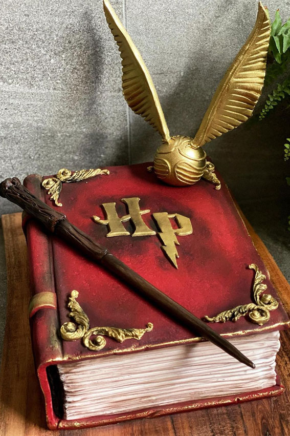 30+ Cute Harry Potter Cake Designs : The Harry Potter Book Cake