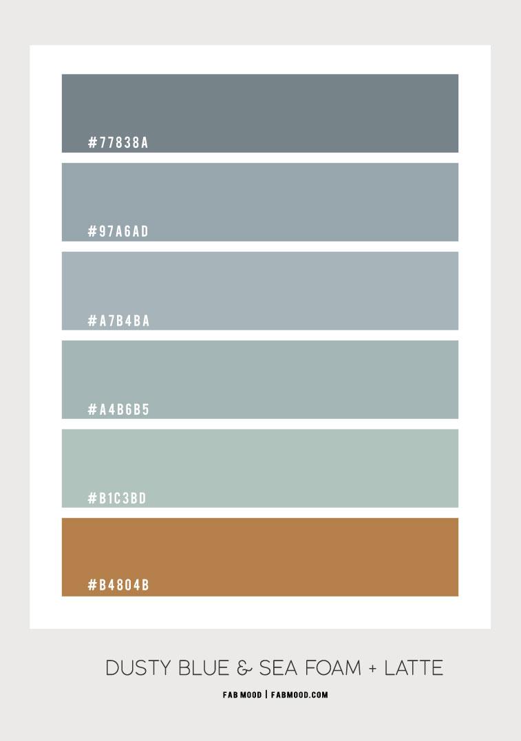 dusty blue and seafoam, dusty blue and seafoam color hex, dusty blue and sage color scheme, dusty blue color combo, dusty blue and seafoam, dusty blue and seafoam color combination, dusty blue and brown, sea foam color hex