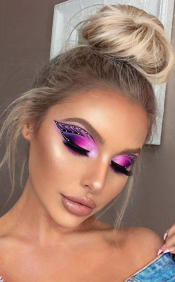 35 Cool Makeup Looks That'll Blow Your Mind : Butterfly Eye Makeup look