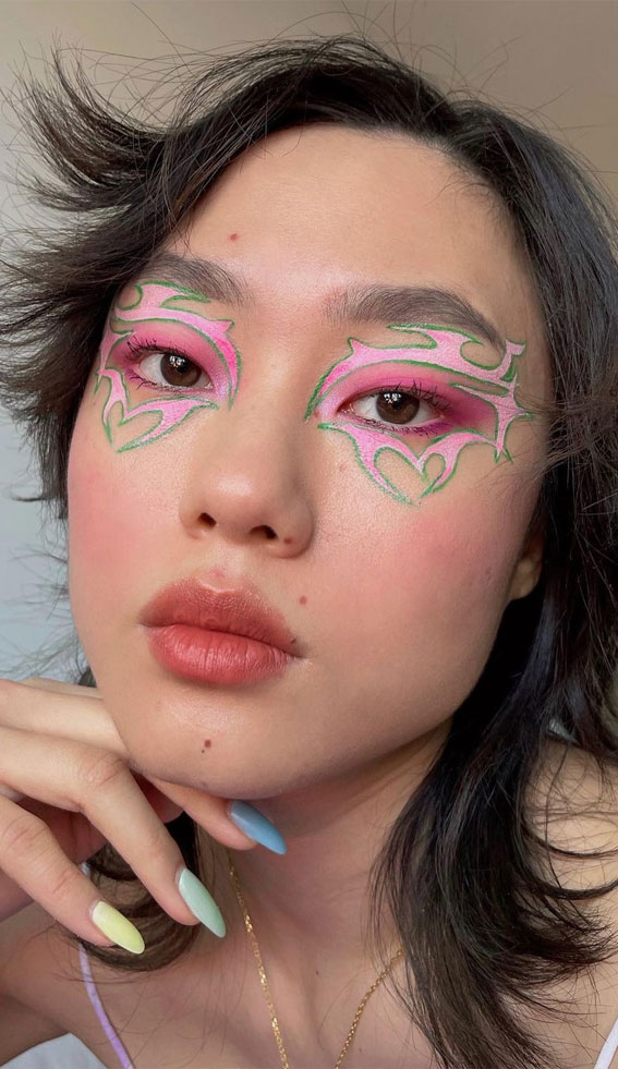 35 Cool Makeup Looks That'll Blow Your Mind : Chromatica vibes