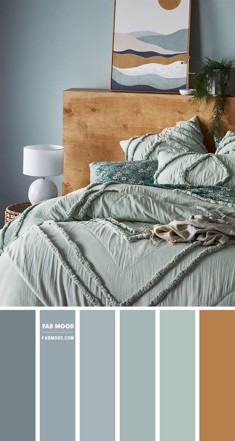 dusty blue and seafoam bedroom, dusty blue and sage bedroom color scheme, dusty blue color combo, dusty blue and seafoam, dusty blue and seafoam colour palette, dusty blue and seafoam color combination, dusty blue and brown, seafoam bedroom