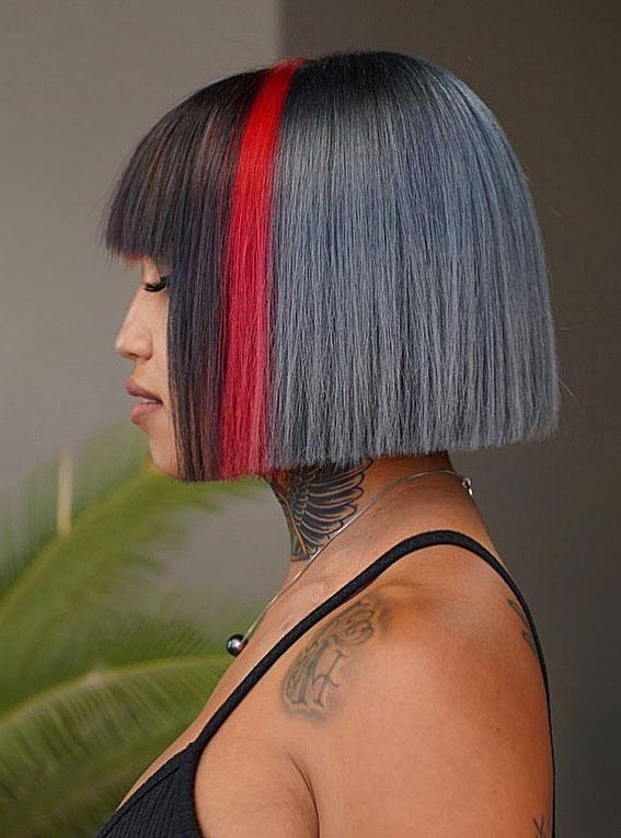 25 Cute Haircuts with Trendy Hair Color Ideas : Two Tone Bob Haircut