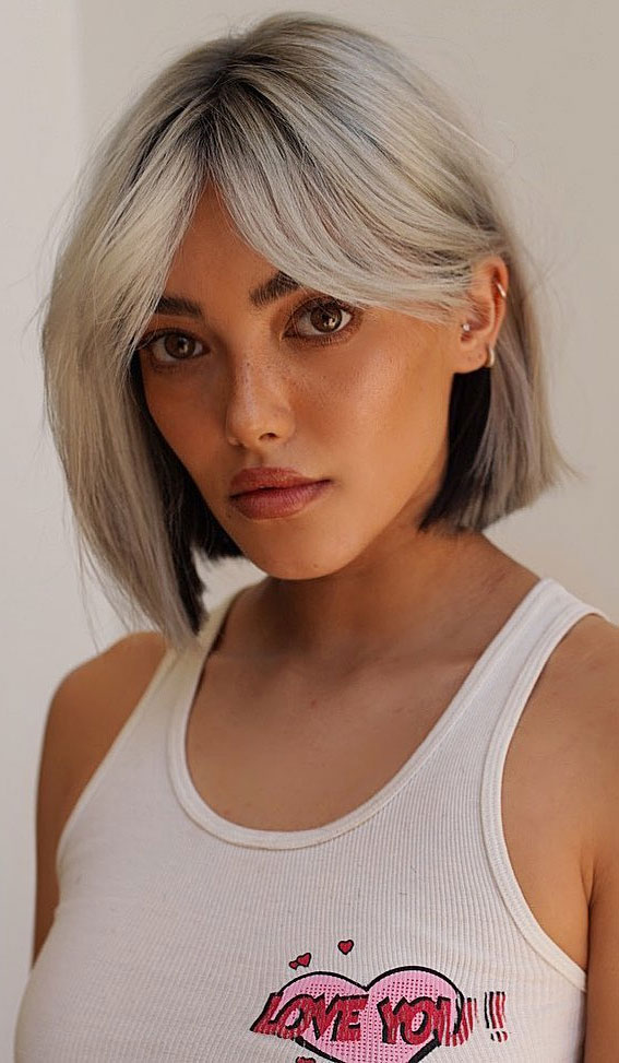 25 Cute Haircuts with Trendy Hair Color Ideas : Two Tone Color Underneath