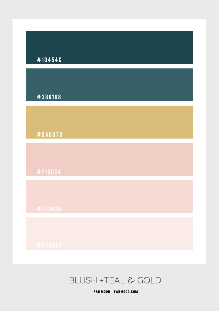 color hex, blush and teal color combo, pink and teal color combination, blush and teal together